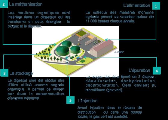 Unité gaz vert
